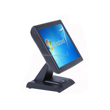 built-in power adapter and VFD customer display 15 inch ALL IN ONE true flat touch screen POS terminal