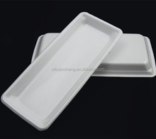 Disposable plastic food serving trays