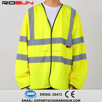 100% polyester long sleevewholesale safety vest road uniform EN20471 ANSI