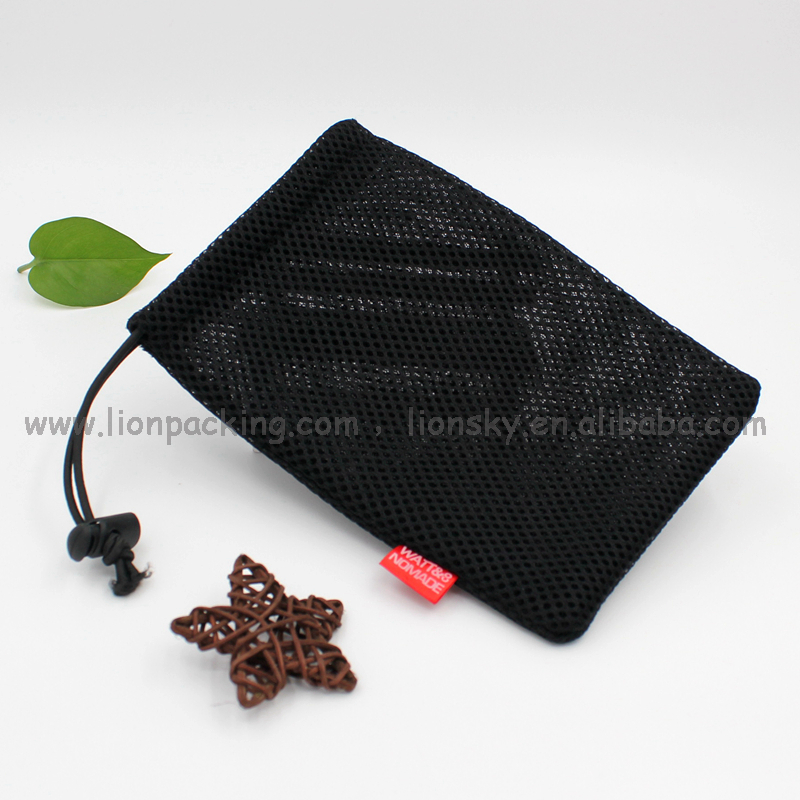 robustious draw string net bag customized size mesh bags for sale