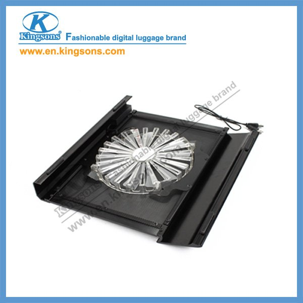 Aluminum laptop cooling pad with big fan
