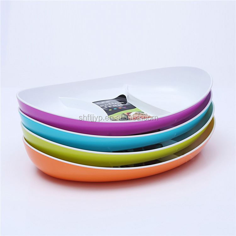 Hot sale very price shape customizable premium plastic plates cheap kids lunch plate
