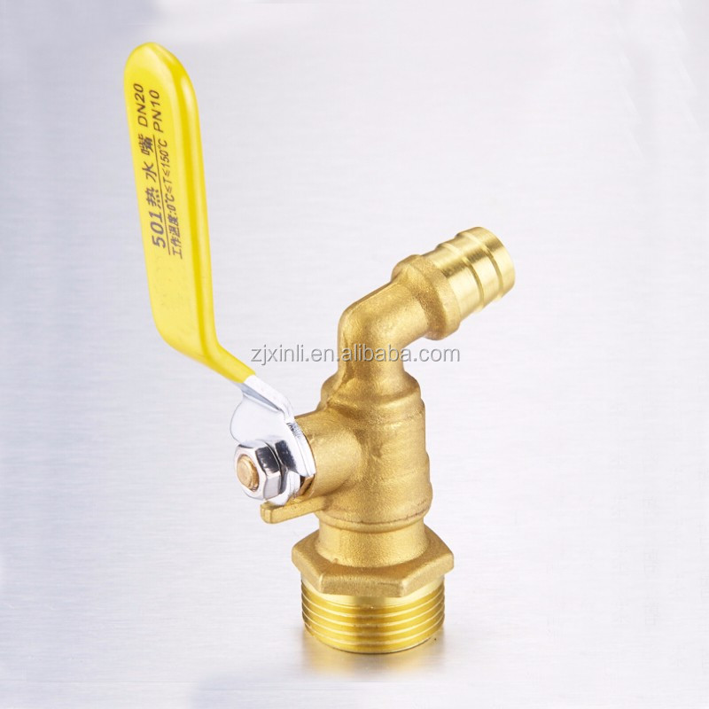 1/2 Inch to 3/4 Inch of Brass Material Bibcock Tap for Washing Machine X5642