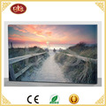 hot selling led canvas painting with beautiful seaside nature design for home wall decor