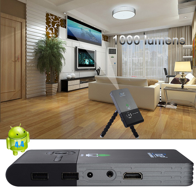 Smart DLP Mini Projector Android 4.4 Bluetooth 4.0 1080P Home Projector