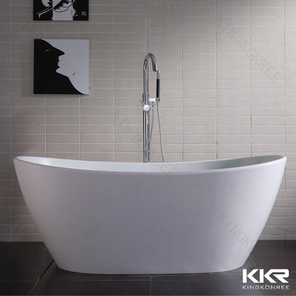 Kkr superficie solida vasca freestanding resina vasca da - Vasca da bagno in pietra ...
