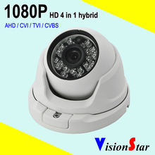 VisionStar Fixed lens 3.6mm osd menu hd 1080p ahd cctv dome camera metal weatherproof infrared security system