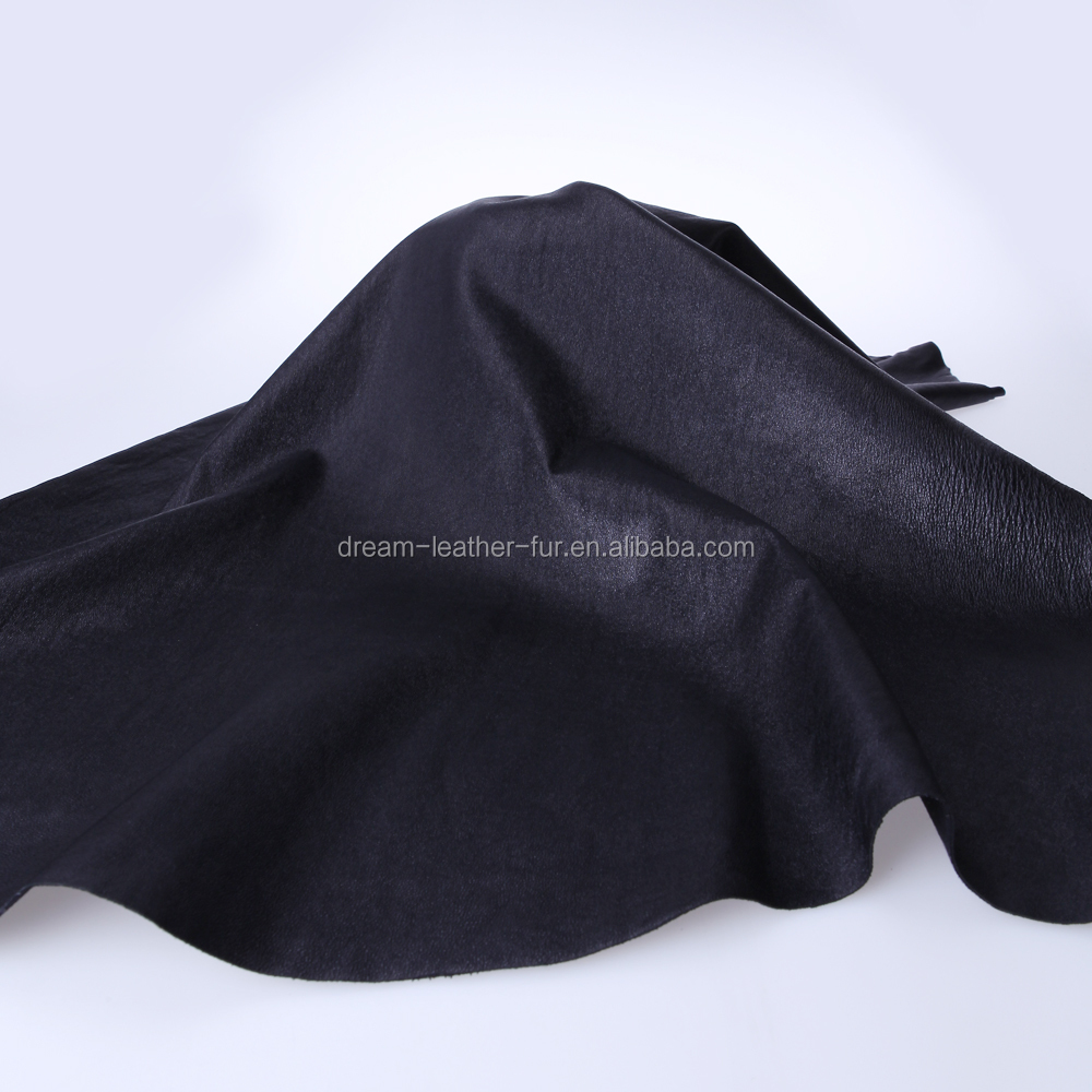 genuine leather stretch leather sheep leather with lining