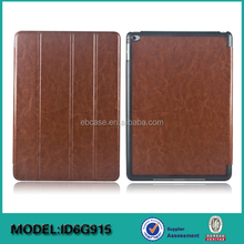 High quality flip leather cover case for ipad air 2,for ipad air 2 smart leather case