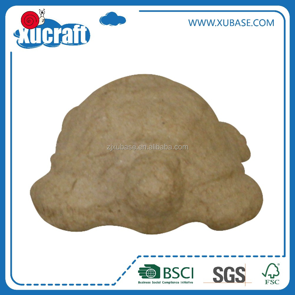 Paintable Paper Mache Paper Pulp tortue Crafts 3D DIY