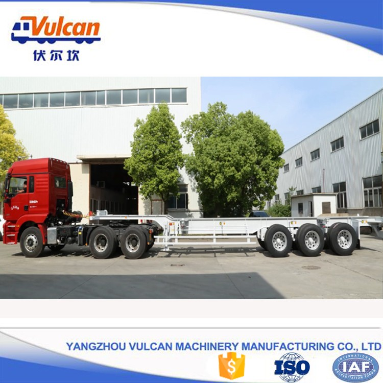 Factory sale 20ft 40ft container dolly skeleton trailer chassis