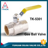 Male Thread Brass Gas Ball Valve with Long Handle 15mm Diameter Hose Brass Gas Valve Ball
