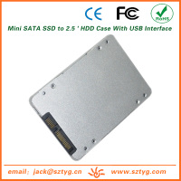 ES-2590-II Dropshipping SSD Hard Drive Case / Mini SATA SSD to 2.5 ' HDD Case With USB Interface