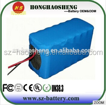 Rechargeable 6600mAH cylindrical lithium ion 18650 18v battery