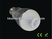 CE & RoHs B22 E27 Motion Sensor led lighting bulb
