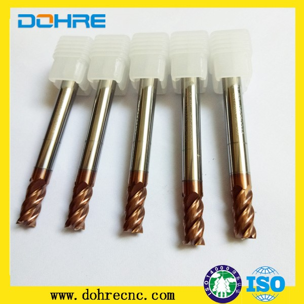 4mm thungsten square endmill carbide marble milling cutter