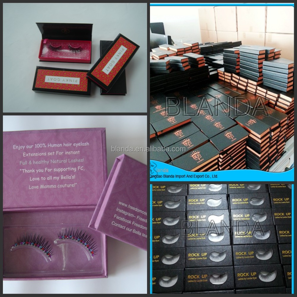 Own Brand Eyelashes, eyelash box, wholesale mink eyelash