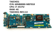 For Asus TAICHI31 Mainboard Motherboard 60NB0080-MB7010 i7-3537U 4G QS77 DDR3 TAICHI31 REV:2.0 Fully Tested