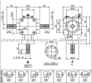 TYPE XL-S-9 Agricultural Gearbox