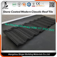 Aluminum-zinc Galvanized Sheet Material stone coated steel roofing tile price