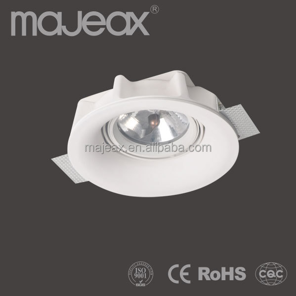 Trimless Gypsum Plaster led round ceiling downlight