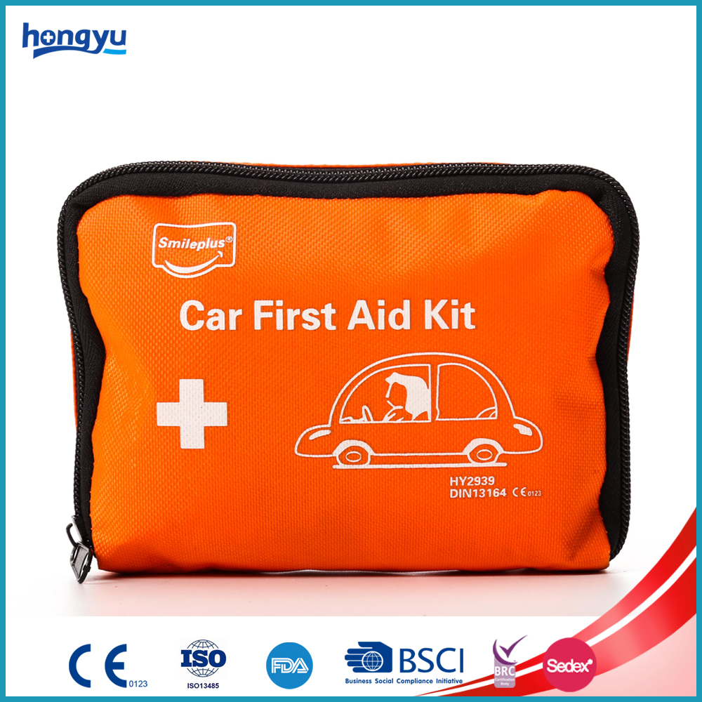 Mini Red Hot Sale Nylon Car First Aid Kit for Vehicle First Aid
