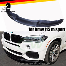 FOR BMW X5 F15 M SPORT CARBON FRONT LIP BUMPER SPOILER 2015+