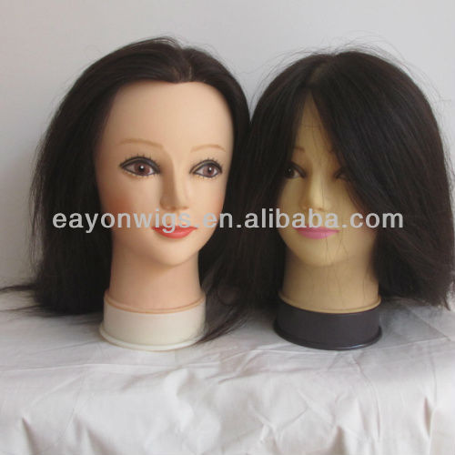 Hot!!! free sample with free shipping human hair practice head