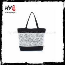 New design outside pocket canvas tote bag with low price