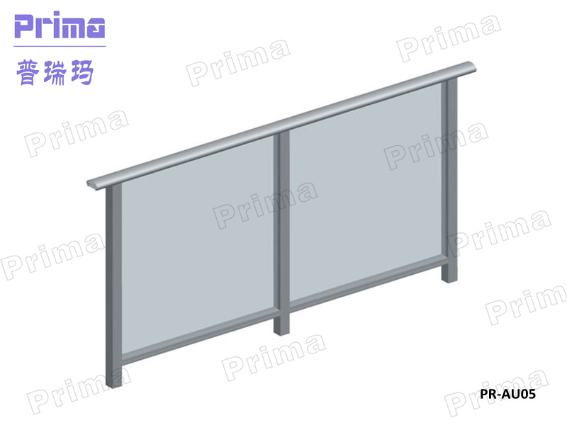 Balcony stainless steel tempered glass railing system