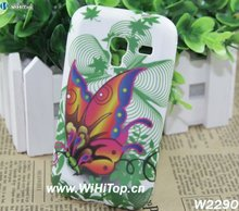 Butterfly Design Floral Printing TPU Case for Samsung Galaxy Ace Plus S7500 S7508