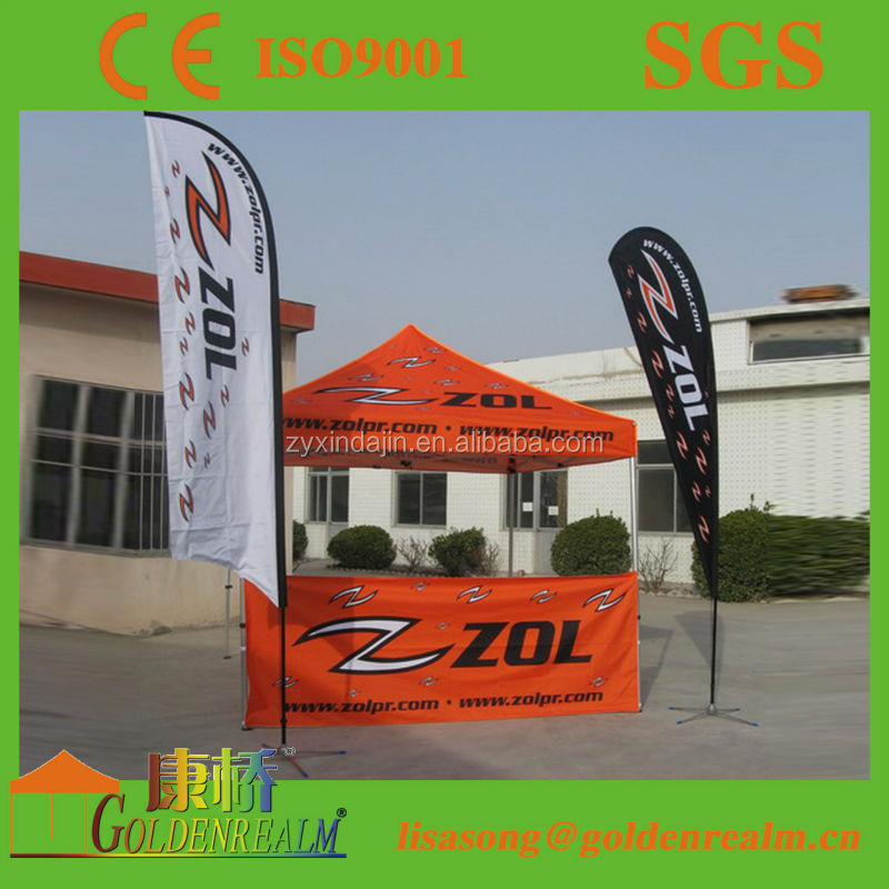 outdoor promotion use aldi pop up beach tent with custom design