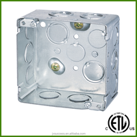 cETL Listed 4 Inch Square Galvanized Metal EMT Electrical Junction Box