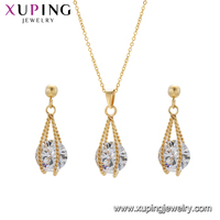 S-126 xuping fashion luxury jewelry set Stainless Steel 24k gold set
