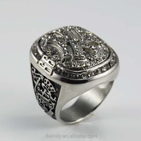 Wholesale Supplier From China Stainless Steel Custom Champion Rings Gothic Unique Jewelry