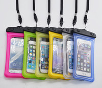 Factory price ultra thin Plastic Cell Phone Neck Ganging Bag Swim Travel Waterproof Phone Pouch Case for phone 5 6 6s 7 8 plus