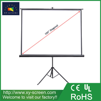 XYSCREEN diagonal 100'' tripod stand projection screen prime quality outdoor tripod projector screen