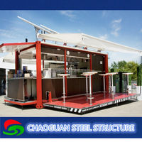 Modern mobile coffe container shop for sale