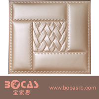 BOCAS Luxury Waterproof Leather Carving designer washable plastic wall panels