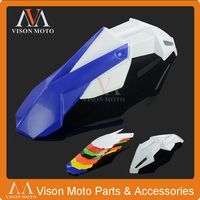 Blue+White Front Fender Mudguard For Yamaha YZ80 YZ85 YZ125 YZ250 YZ250F YZ400F YZ426F YZ450F Dirt Bike Motorcycle Off Road