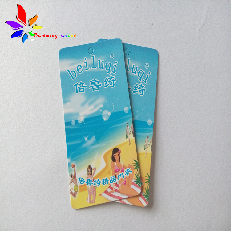 Customized wholesale design own hang tags for underwear