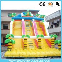 Durable giant inflatable dry slide kids bouncers for funny games indoor or outdoor