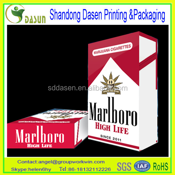 Custom Printed Paper Cigarette Box and Packaging
