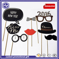 2016 hot-sale photo booth props party supplies set/adult photo props black