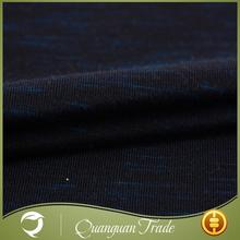 Wholesale high quality custom black soft loose knit fabric