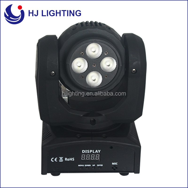 stage light guangzhou 10W +4*12W RGBW COB double-face led moving head beam light