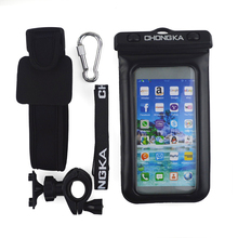 Fashionable Waterproof Bag With Strap and Carabiner Bike Mount for Mobile Phone