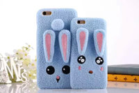 Lover rabbit fuzzy Phone case soft case Cover For Apple Iphone 5 5s 6 6s 6plus CO-MIX-9080