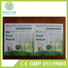 Factory supply japanese version detox foot patch