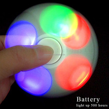 Factory directly hot selling fidget topy good quality bearing tri LED fidget spinner